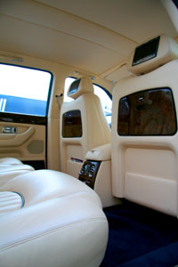 Image showing the interior of one of our Bentleys for hire