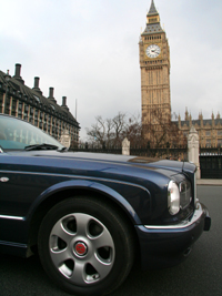Chauffeur driven sightseeing tours of London include Big Ben and the Houses of Parliament